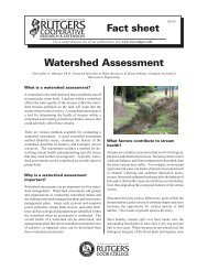 Watershed Assessment Fact sheet - Rutgers Cooperative Extension ...