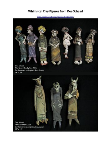 Whimsical Clay Figures from Dee Schaad