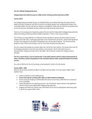 The FA's Official Holding Statement Safeguarding Vulnerable ...
