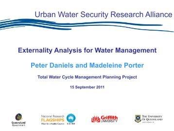 externalities - Urban Water Security Research Alliance