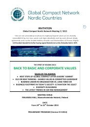 preliminary programme - Global Compact Nordic Network