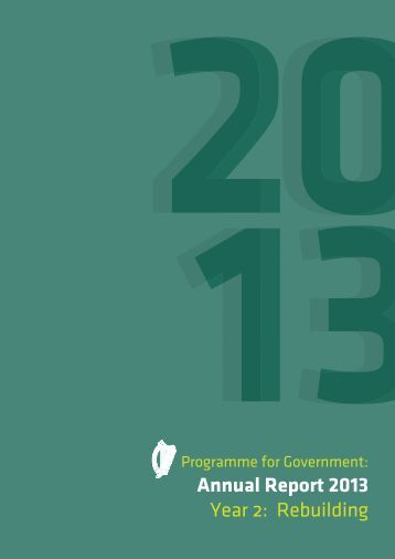 Programme for Government Annual Report 2013 - Department of ...