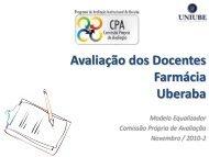 Avaliação dos Docentes Farmácia Uberaba - Uniube