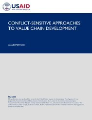 Conflict-Sensitive Approaches to Value Chain ... - International Alert
