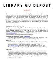 Case Law - Kwantlen Polytechnic University