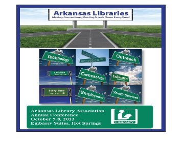 Draft Conference Schedule - the Arkansas Library Association!