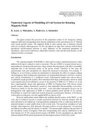 Numerical Aspects of Modelling of Coil System for Rotating ...