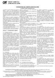 Convention de Compte - Crédit Agricole Loire Haute Loire