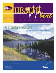 September 2005 Volume 8, Issue 7 - McCrone Healthbeat