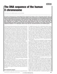The DNA sequence of the human X chromosome - HUGO Gene ...