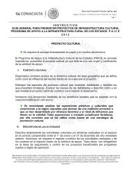 Instructivo - Dirección General de Vinculación Cultural - Consejo ...