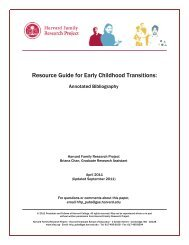 Resource Guide for Early Childhood Transitions - Harvard Family ...