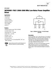 SKY65081-70LF - Skyworks Solutions, Inc.