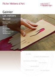 Gainier - Institut National des Métiers d'Art