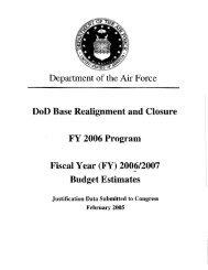 BRAC 1995 Commission, FY06 - Air Force Financial Management ...