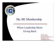 Why Join IIE? - Institute of Industrial Engineers