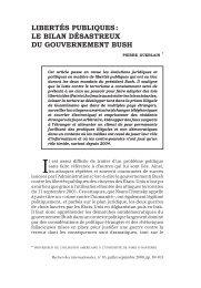 Libertés publiques : le bilan désastreux du gouvernement Bush (2008)