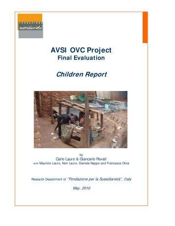 AVSI OVC Project Final Evaluation Children Report
