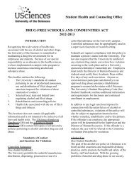drug-free schools and communities act - University of the Sciences ...