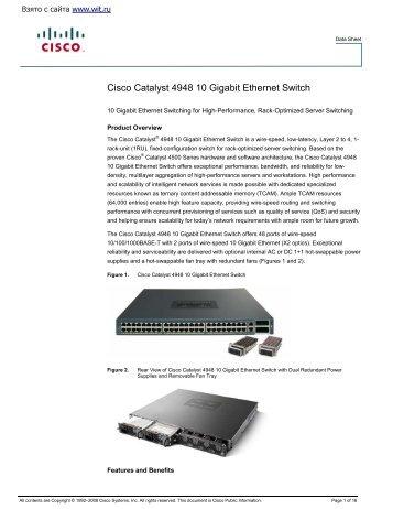Cisco Catalyst 4948 10 Gigabit Ethernet Switch