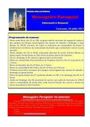 (15) Mensageiro Informativo 20 julho 2013 - Diocese de Erexim
