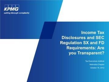 KPMG Talkbook template - Tax Executives Institute, Inc.