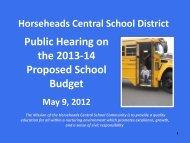Public Hearing Presentation 5-9-13 - Horseheads CSD Board of ...