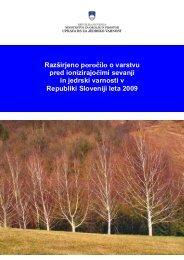 Razširjeno letno poročilo za leto 2009 - Uprava Republike Slovenije ...