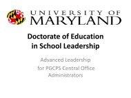 University of Maryland Information Session Presentation