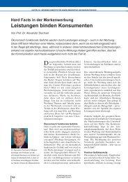 Beitrag Prof. Dr. A. Deichsel - Institut für Markentechnik Genf