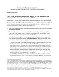 Statement by Mr. Hassane Cisse - United Nations Rule of Law