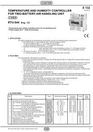 TEMPERATURE AND HUMIDITY CONTROLLER FOR TWO ... - Coster