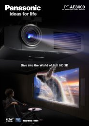 Projector Brochure - Panasonic FTP