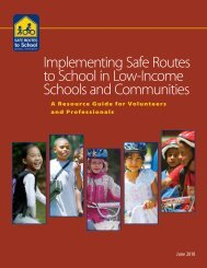 Implementing Safe Routes to School in Low-Income Schools and ...