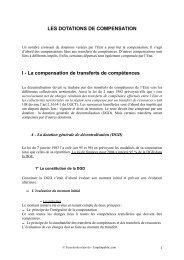 LES DOTATIONS DE COMPENSATION I - La ... - Canalblog