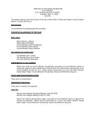 MINUTES OF THE REGULAR MEETING CITY COUNCIL CITY OF ...