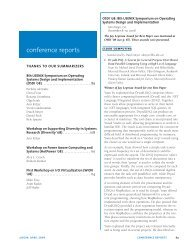 conference reports - Usenix