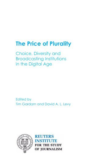 The Price of Plurality - Center for Global Communication Studies