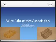 Wire Fabricators Association - Marlin Steel Wire Products