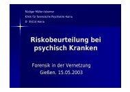 Risikobeurteilung bei psychisch Kranken - Vitos Haina
