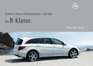 Die R - Klasse. - Mercedes Benz