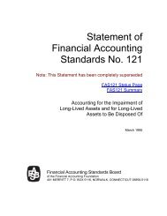 Statement of Financial Accounting Standards No. 121