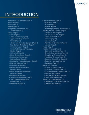 General Information - Cedarville University