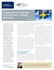 L'organisation du travail dans le secteur public : l'exemple de la Suède