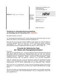 Freunde der italienischen Oper Die - VSVI-NRW