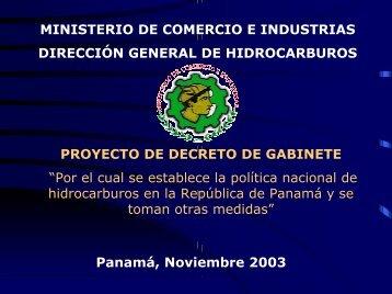 zona libre de petroleo - Ministerio de Comercio e Industrias