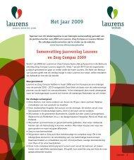 samenvatting jaarverslag 2009 - Laurens
