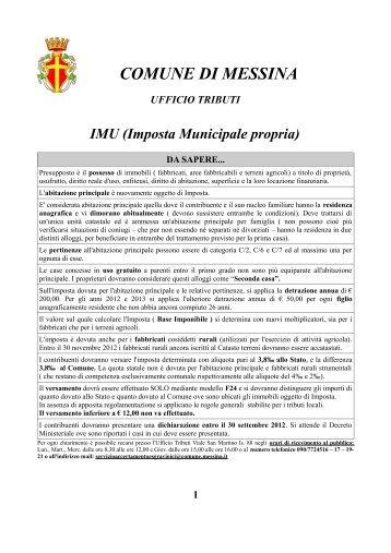 Imposta Municipale propria - Comune di Messina