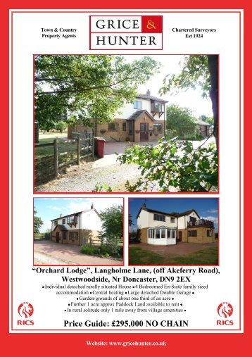 """Orchard Lodge"", Langholme Lane - Grice & Hunter"