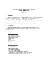 Board Minutes for January 2011 - Water Resources Board